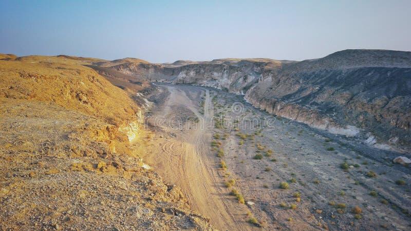 热的沙漠在Marsa Alam 库存图片