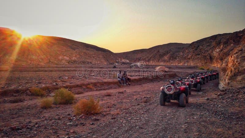 热的沙漠在Marsa Alam 免版税库存图片