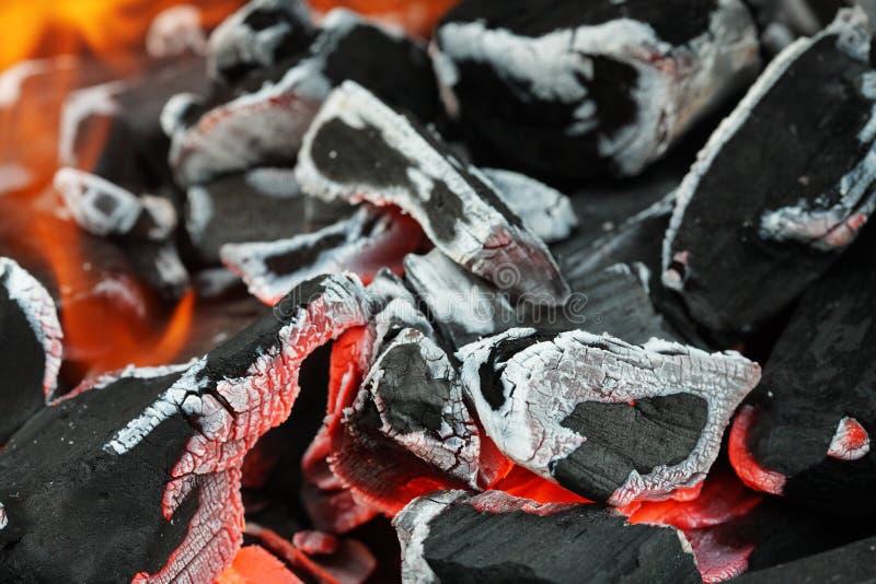 热的炭烬 免版税图库摄影