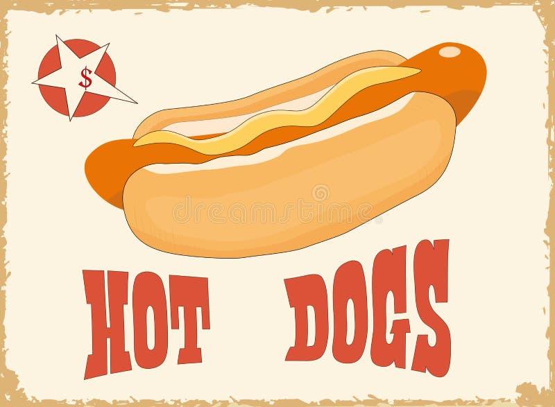 热的狗 库存例证