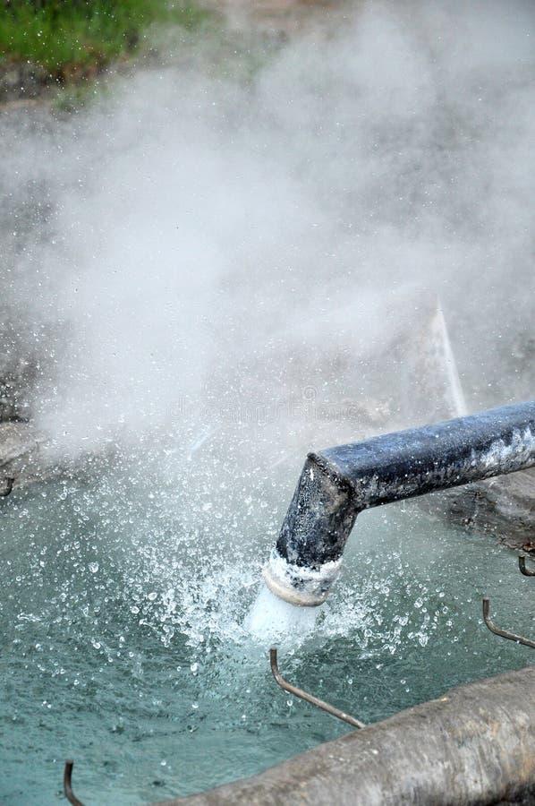 热的矿泉水 图库摄影