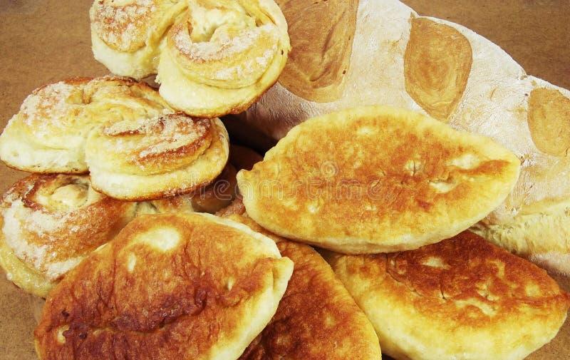 热的面包和大面包 免版税图库摄影
