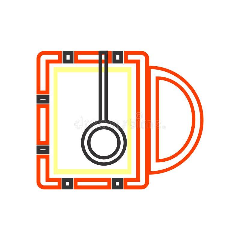 热的饮料象在白色背景隔绝的传染媒介标志和标志,热的饮料商标概念 皇族释放例证