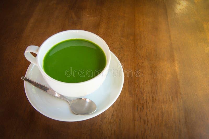 热的绿茶matcha 免版税图库摄影