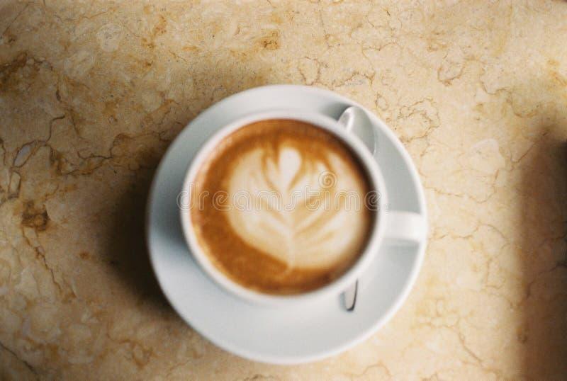 热的Latte咖啡 免版税库存照片
