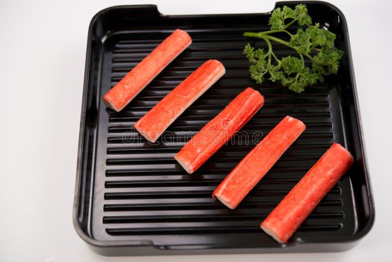 热的shabu的新鲜食品 免版税库存照片