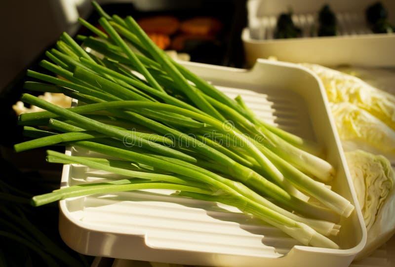热的shabu的新鲜食品 库存照片