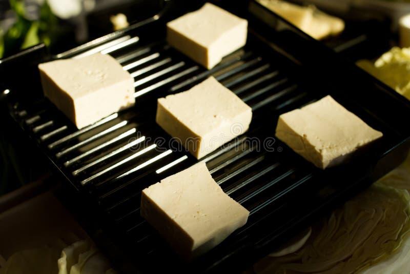 热的shabu的新鲜食品 免版税图库摄影