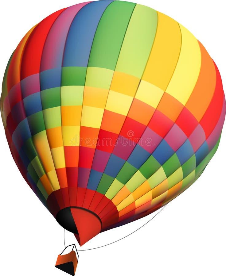 热空气气球传染媒介例证 皇族释放例证