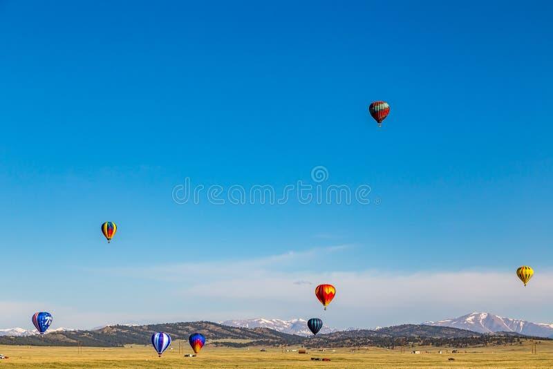 热空气气球实践 图库摄影