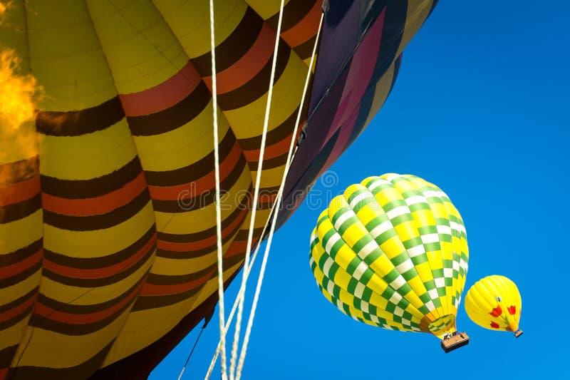 热空气气球纳帕谷 免版税库存图片