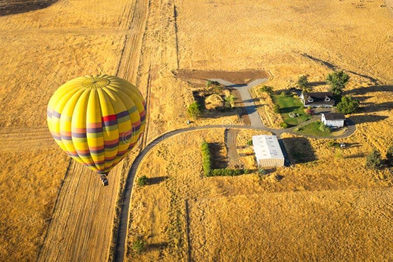 热空气气球纳帕谷 图库摄影
