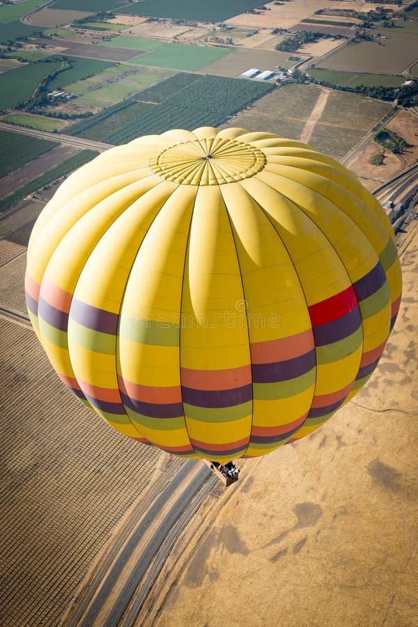 热空气气球纳帕谷 免版税库存照片