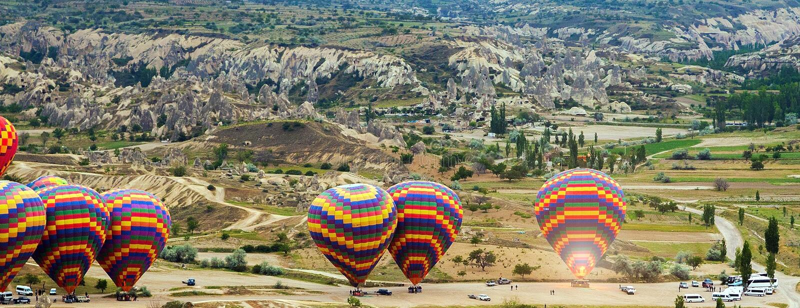 热空气气球飞行南卡帕多细亚游览 图库摄影