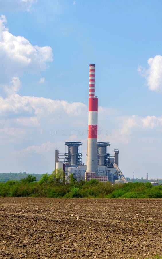 热能源厂 免版税库存照片