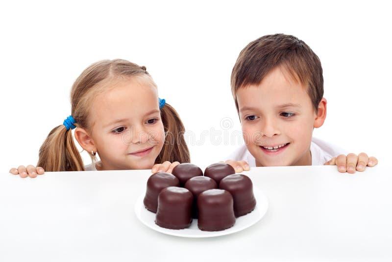 热衷的孩子甜点 免版税库存照片