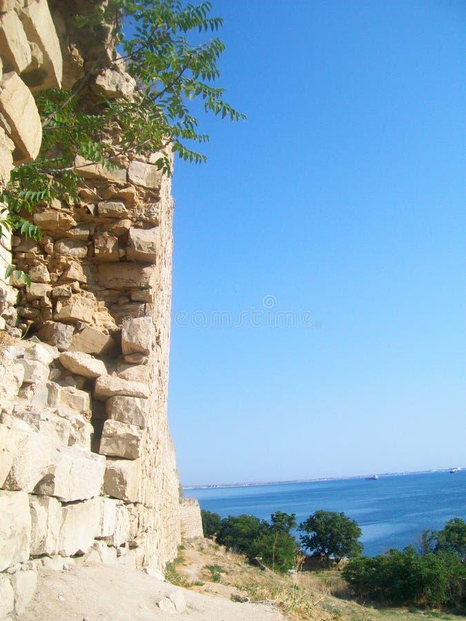 热那亚人的堡垒在Feodosia 免版税库存图片