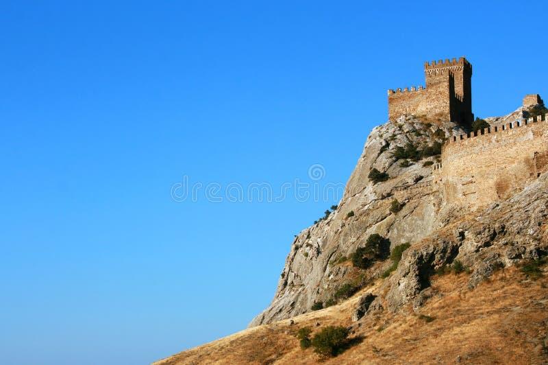 热那亚人的堡垒 库存图片