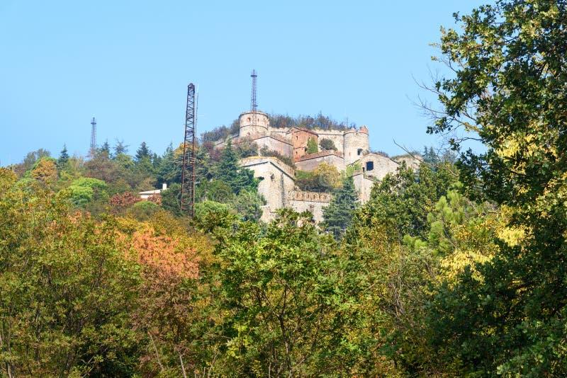 热那亚墙壁  堡垒斯佩罗内在热那亚 意大利 图库摄影