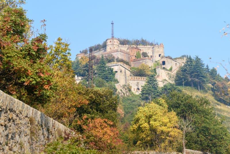 热那亚墙壁  堡垒斯佩罗内在热那亚 意大利 库存照片