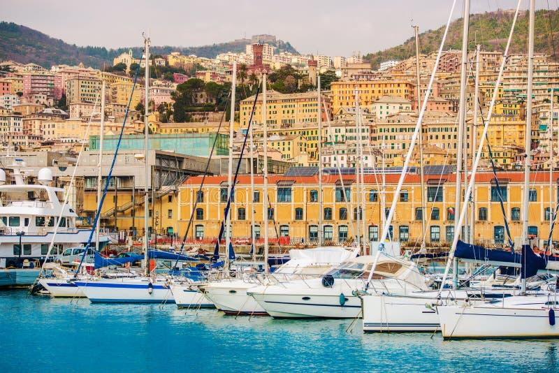 热那亚意大利港  库存照片