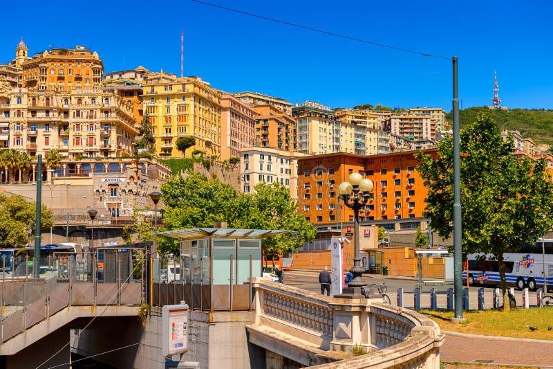 热那亚,意大利建筑学  免版税库存照片