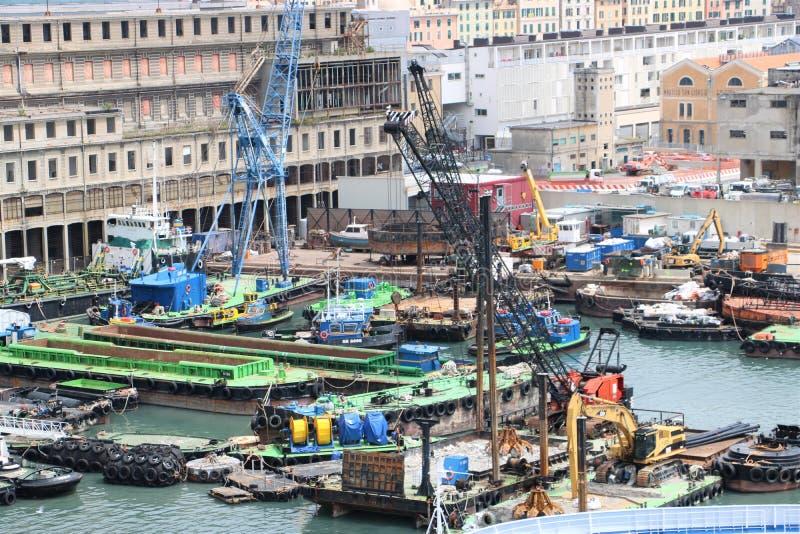 热那亚,意大利港 图库摄影