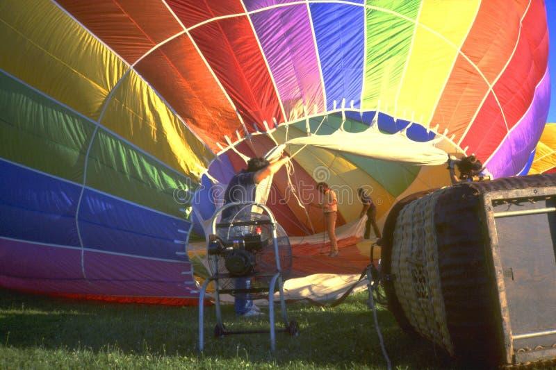热1个的气球 免版税库存照片