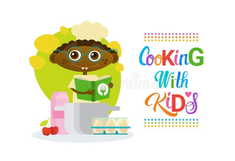 烹调与孩子儿童烹饪类爱好发展 向量例证