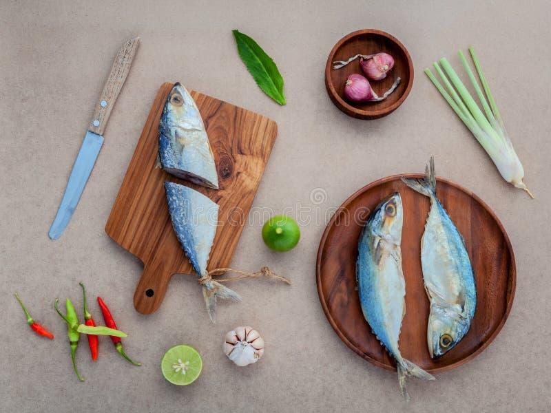 烹调传统泰国食物的Prepare保存了咸鱼sala 免版税库存图片