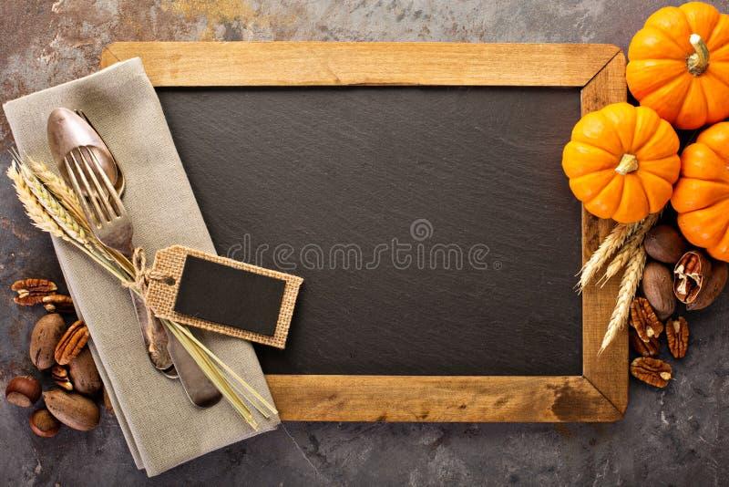 烹调和吃在秋季 库存图片