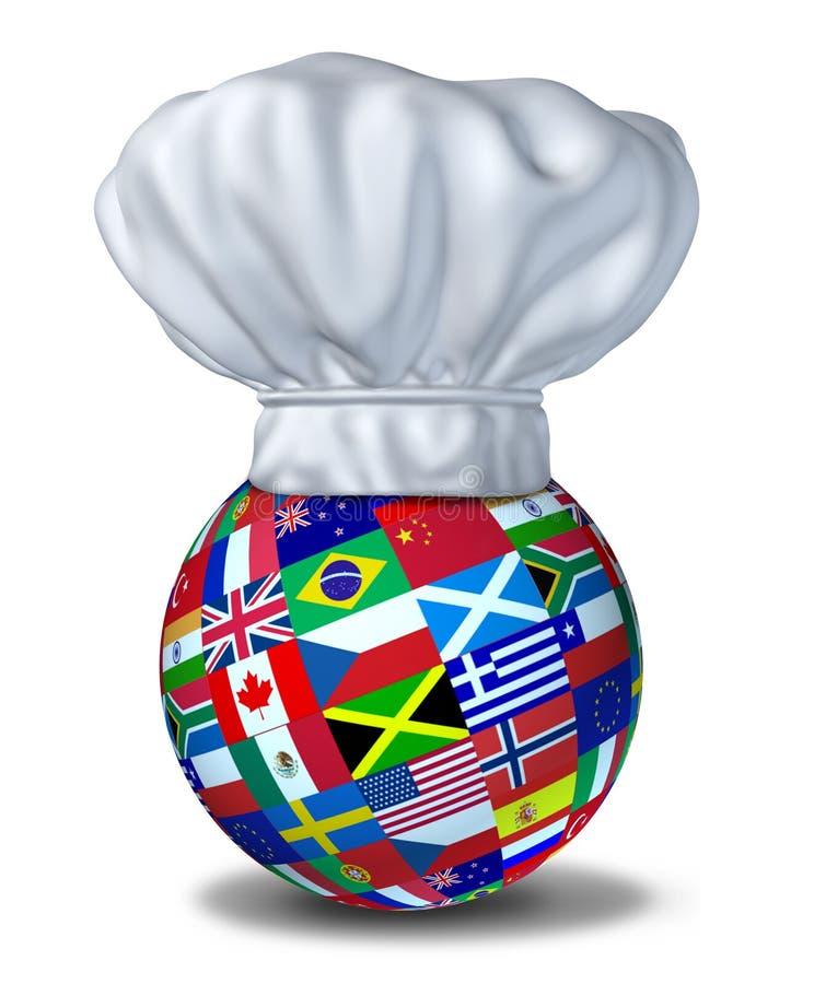 烹调国际 向量例证