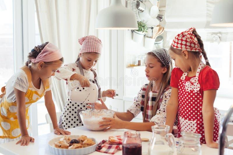烹调在厨房里的子项 库存图片