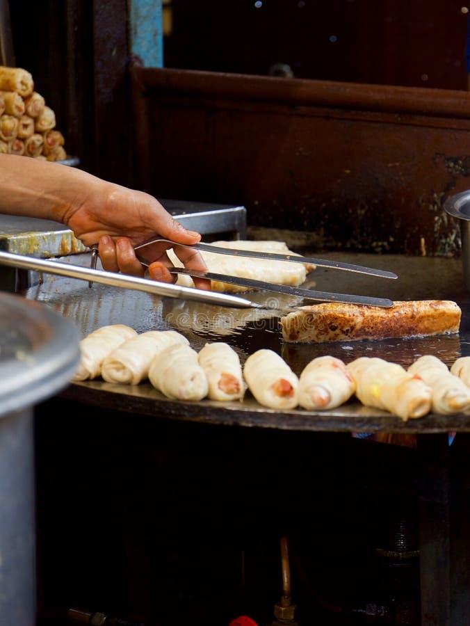 烹调在赖买丹月期间在孟买 库存照片