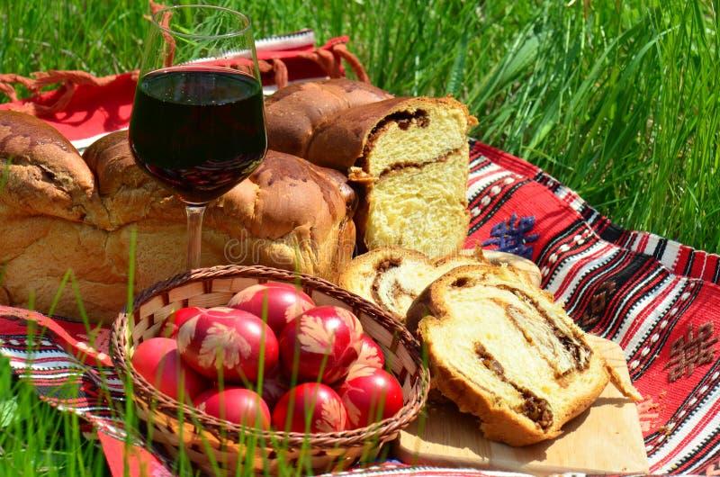 烹调复活节罗马尼亚传统 免版税库存照片