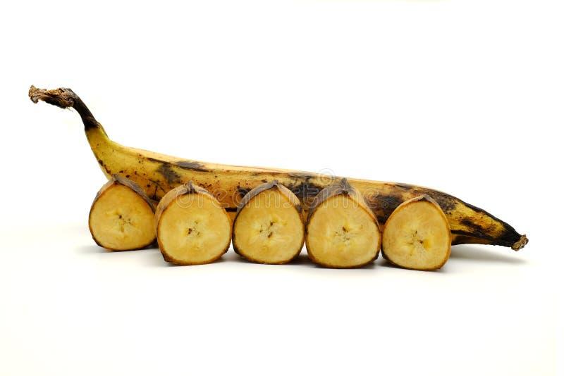 烹调大蕉 免版税库存照片