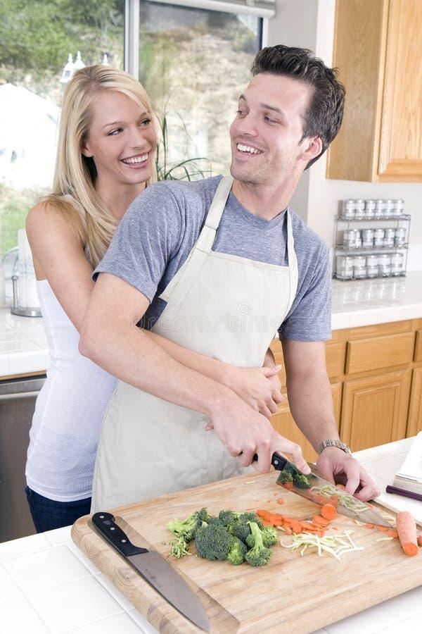 烹调夫妇 库存照片