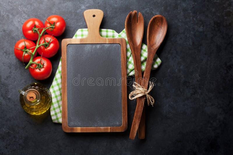 烹调成份和器物 库存照片