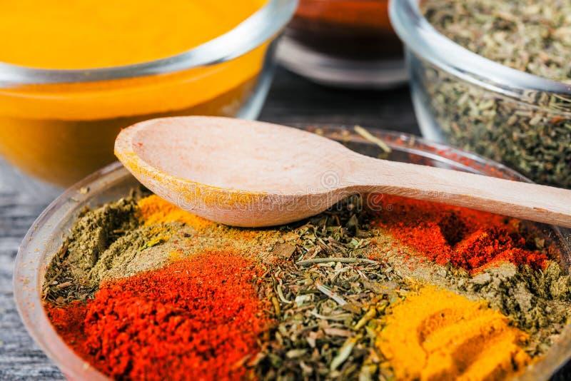 烹调成份,香料,牧群 免版税库存照片