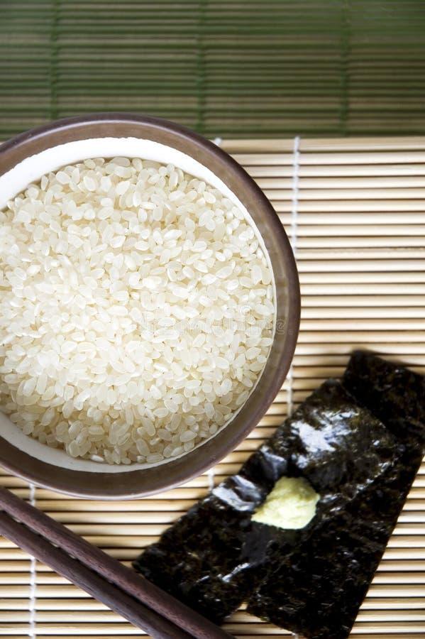 烹调日本食物 图库摄影