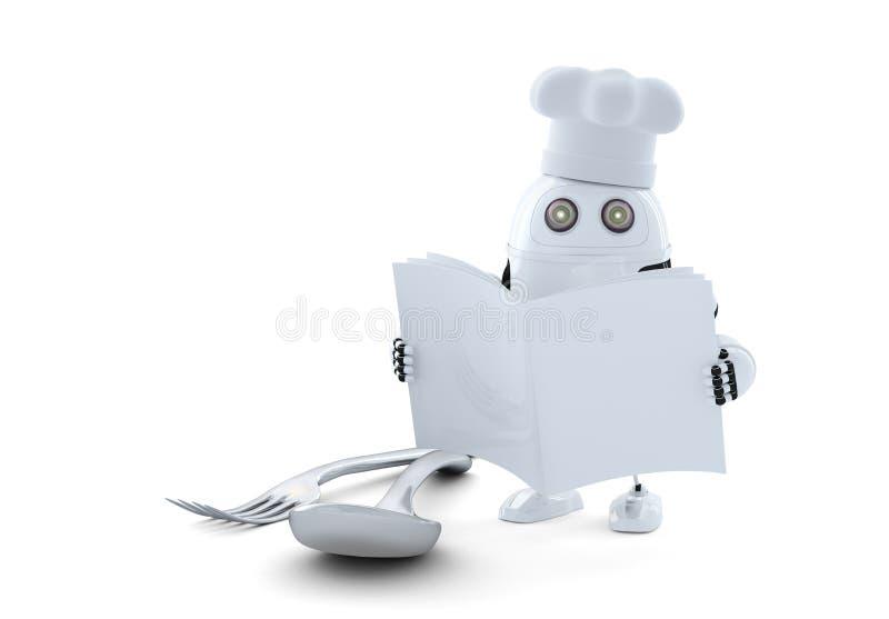 烹调机器人 皇族释放例证