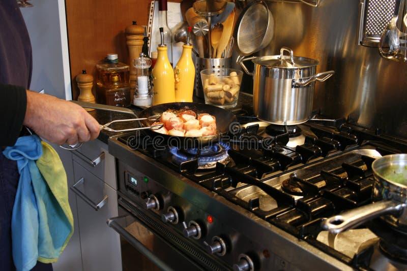 烹调正餐美食 库存图片