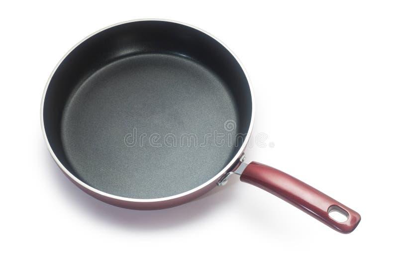 烹调油煎查出的平底锅白色的设备 库存图片