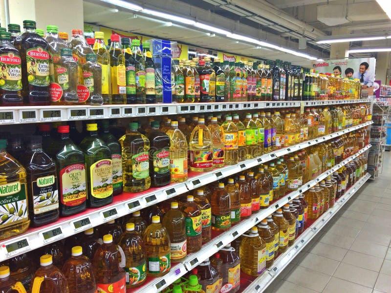 烹调油超级市场 免版税库存照片