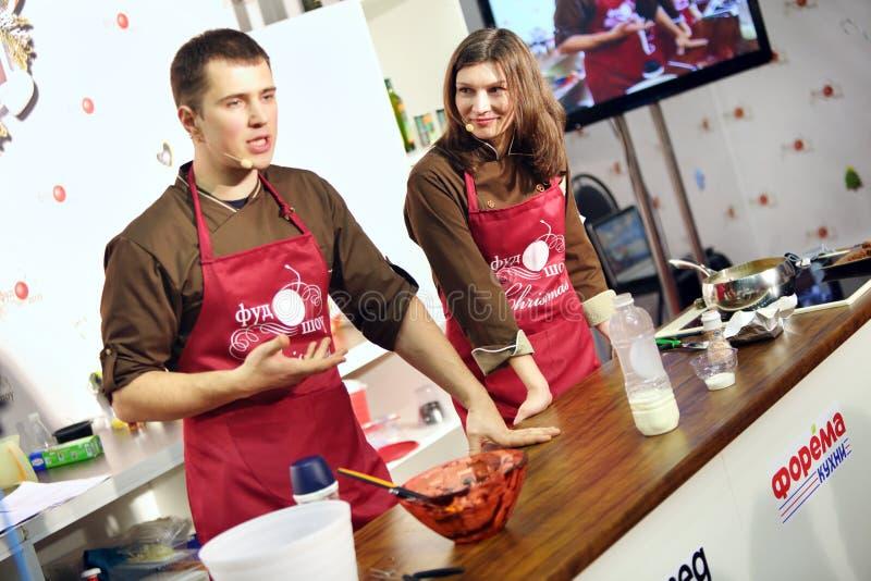 烹调法主要类在第六个烹饪节日的 免版税库存图片
