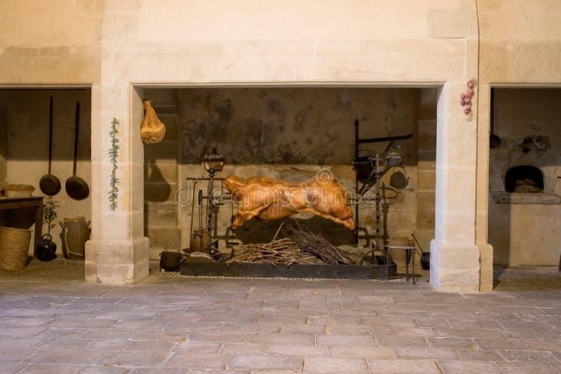 烹调烤肉店的城堡 库存照片