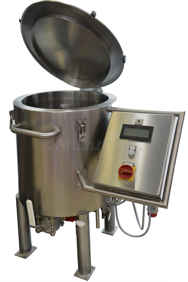 烹调的糖浆和焦糖锅炉 库存图片