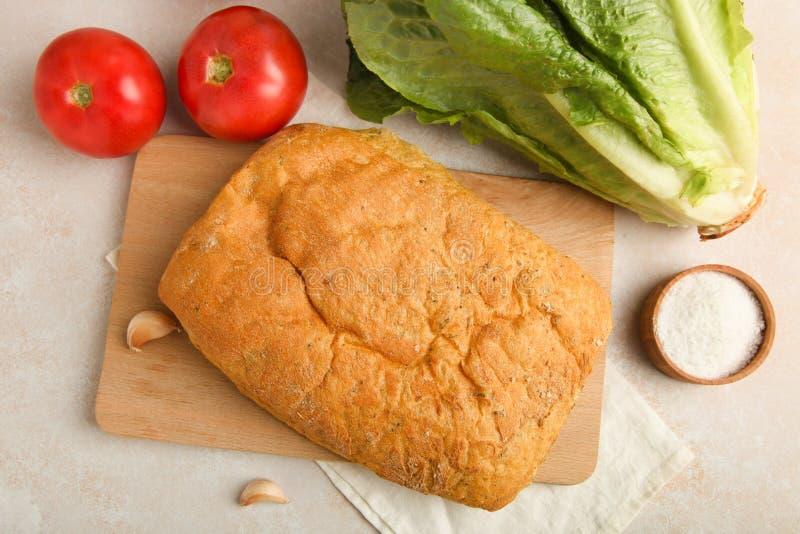 烹调的bruschetta成份 免版税库存图片