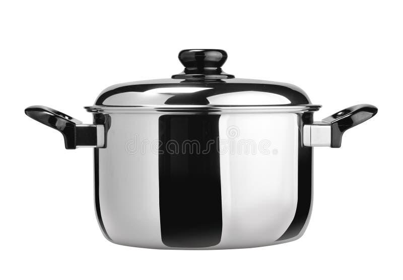 烹调罐不锈钢 库存图片