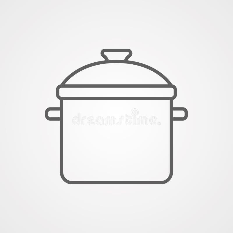 烹调罐传染媒介象标志标志 向量例证
